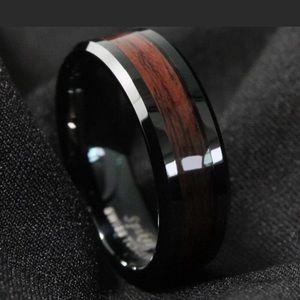 Black and wood grain band